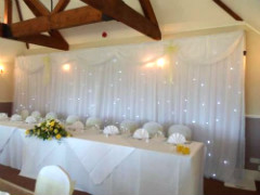 Wedding Backdrop In White With LED Lighting