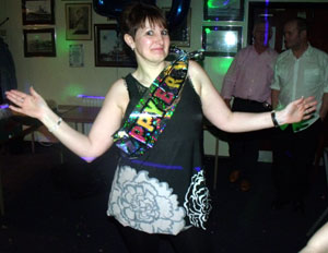 Louise Stapleton - 40th Birthday Party At The Navy Club, Newton Aycliffe In County Durham provided by Flashdance Disco