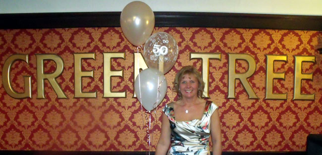 Mobile DJ At The Green Tree Pub In Tudhoe Provided By Flashdance Disco For Christine's 50th Birthday Party