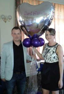 Danielle & David at their Engagement Party at Crook Golf Club in County Durham.